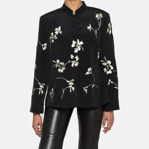 Vintage Silk Embroidered Blazer Jacket